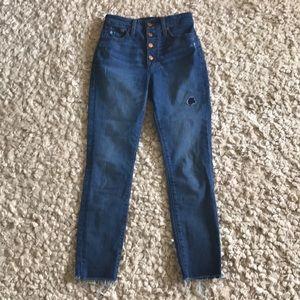 J.Crew button through curvy toothpick jeans
